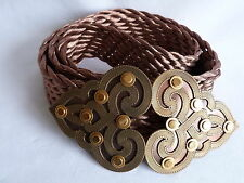 Metal/Chain Belts for Women with Plaited