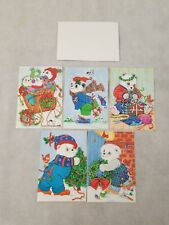 St. Labre Indian School Holiday Christmas Cards Montana Polar Bear 5 Total