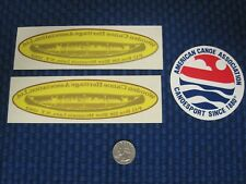 Lot of 3 Wooden Canoe Heritage Association & American Canoe Association Stickers