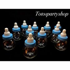 24 Fillable Bottles For Baby Shower Favors Blue Party Decorations Boy