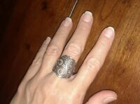 JAMES AVERY STERLING SILVER SORRENTO SCROLL RING SIZE 7