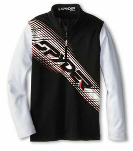 Spyder Boys Racer Cotton T-Neck Thermal Shirt Size XXL (20 Boys) Fits S Mens,NWT