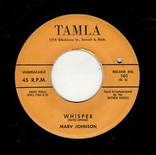 RARE MOTOWN/DOOWOP-MARV JOHNSON-WHISPER/COME TO ME-TAMLA 101