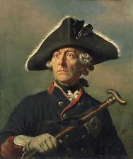 Friedrich der Große Porträt Wilhelm Preußen Alte Fritz Camphausen Kunst A3 165
