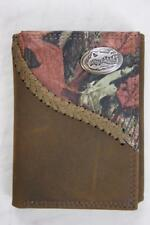 ZEP-PRO FLORIDA GATORS Fence Row Camo Leather Trifold Wallet Tin Gift Box