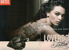 Publicité Advertising 2014  (2 Pages)  Parfum DIESEL LOVERDOSE Tattoo