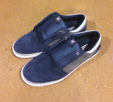 DVS Stafford Size 12 Navy Grey Suede BMX DC Skate Shoes Sneakers