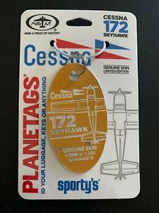 MotoArt PlaneTags Cessna 172 Skyhawk Plane Tag Sporty's® N46373 Gold