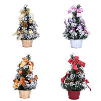 Mini Christmas Tree Ornament Desk Table Festival Xmas Party Decor Gifts 25cm New