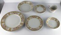 Wallace Heritage Daphne-Pattern Fine Porcelain China 6 Piece Place Setting
