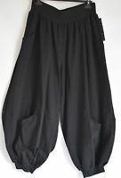 STUNNING SARAH SANTOS  harem/BALLOON  trousers sz L/XL BLACK
