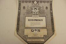 More details for qrs pianola word roll:  elvis presley memorial medley