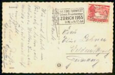Mayfairstamps Switzerland 1955 Turnfest Schweiz Frauenturntage slogan Cancel Pos