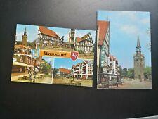 2 alte AK aus Wunstorf / gelaufen 1985 bis 1994 !!!