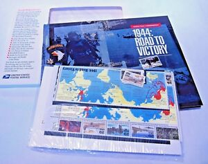 WWII Remembered 1944 Road to Victory Mint set stamps book 8844 unassembled