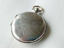 RAR Antik Sterling Silber Vinaigrette / Riechdose 1887 Handarbeit