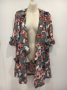 NWT Madison Square Clothing Floral Kimono Style Top Size S