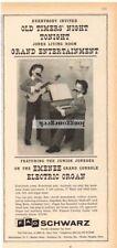 1959 EMENEE Grand Console Electric Organ, Cowboy Guitar FAO SCHWARZ VTG Print Ad