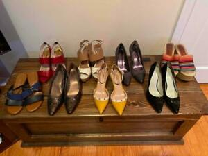 Lot of 8 pairs Women's Shoes Size 8 and 8.5-Michael Kors, Nine West, and more