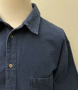 Paul Smith Men's Blue Denim Long Sleeved Tailored Fit Casual Shirt - 2XL