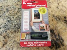 New Picture Straight System Picture Hanging Kit With Thumb Level And 6 Pads New