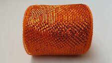 "4"" Orange Deco Mesh Ribbon"