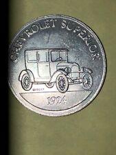 1924 CHEVROLET SUPERIOR 1968 Sunoco DX Gasoline Antique Car Aluminum Coin/Token