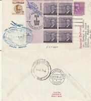 US 1958 FAM 27 POLAR FIRST FLIGHT FLOWN COVER LOS ANGELES TO FRANKFURT GERMANY a
