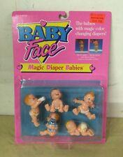 1991 Baby Face Doll MAGIC DIAPER BABIES No. 38010 Galoob NOS Vintage