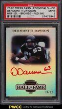 2012 Press Pass Legends HOF Edition Bronze Red Dermontti Dawson AUTO /30 PSA 9