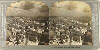FRANCE Paris Vue Vol d'Oiseau Exposition 1900, Photo Stereo Vintage