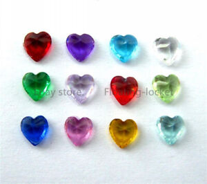 Wholesale 120pcs 5mm Heart Birthstones for Memory Glass Locket Free Shipping