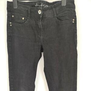 Ladies Skinny Fit Black Jeans By Denim & Co UK Size 8 EU 36 Leg 31 Mid/Low Rise