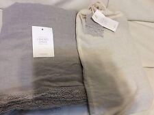 Restoration Hardware Baby Child 2 Garment Dyed Crochet Linen Drapery Mist 50x108