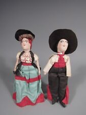 Pair of Brazil Brazilian Doll Figures in Traditional Costume ca. 19-20th c.