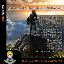 Legend of Zelda: Breath of the Wild (Switch Mod)-Game is not Included!!!