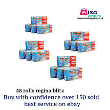 48 Regina Blitz 3 Ply Kitchen Towel Paper Rolls cheapest bulk buy SPECIAL OFFER