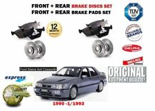 FOR FORD SIERRA 2.0 16V 4X4 COSWORTH 1990-1993 FRONT REAR BRAKE DISCS + PADS SET