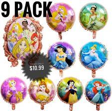 Princess Balloons BIRTHDAY PARTY Balloons Decorations Supplies 9 pack