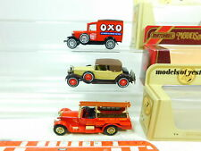 BT439-1# 3x Matchbox Modell: Y-22 Ford A + Y-15 Packard + Y-6 Rolls Royce, OVP