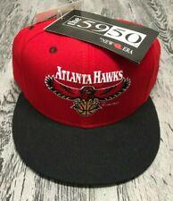 NWT Vintage 90's NEW ERA Atlanta Hawks 5950 Fitted Wool Basketball Hat Cap 7 3/8