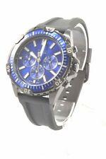 Fossil FS5695 Garett Blue Dial Black Silicone Strap Men's Chronograph Watch