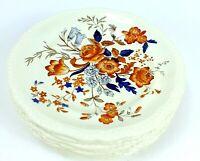 Vintage COPELAND SPODE Porcelain SALAD PLATES Great Britain ROMNEY Lot of 8