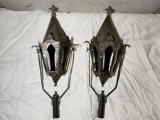 217th Century Medieval Portugal Church Lanterns Hand Made Tin Rustic Antique