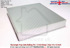 "Novelty Cake Baking Tin and Pans | Rectangle Oblong Tray | 14"" x 12"" 
