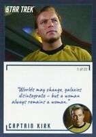 Star Trek TOS Archives & Inscriptions card #1 Captain Kirk Variation 1 out of 22