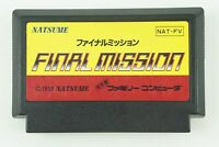 FINAL MISSION NES NATSUME Nintendo Famicom From Japan