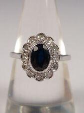 Ringe mit Diamant echten Edelsteinen für Damen (17,5 mm Ø) von