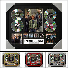 Pearl Jam 4CD Signed Framed Memorabilia Limited Ed. 2017 - Multiple Variations