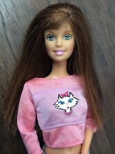 Barbie Midge Teresa Lever on Back to move Arm Auburn Hair Cat Cropped Shirt Pant